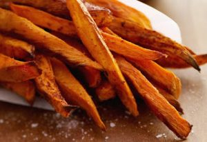 cinnamon-pear-baked-sweet-potato-fries